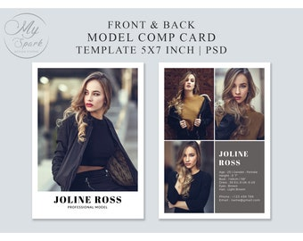 Comp Card Template Etsy