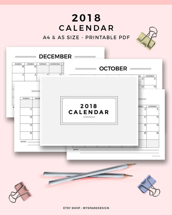 personal size planner inserts monthly planner printable 2018 etsy