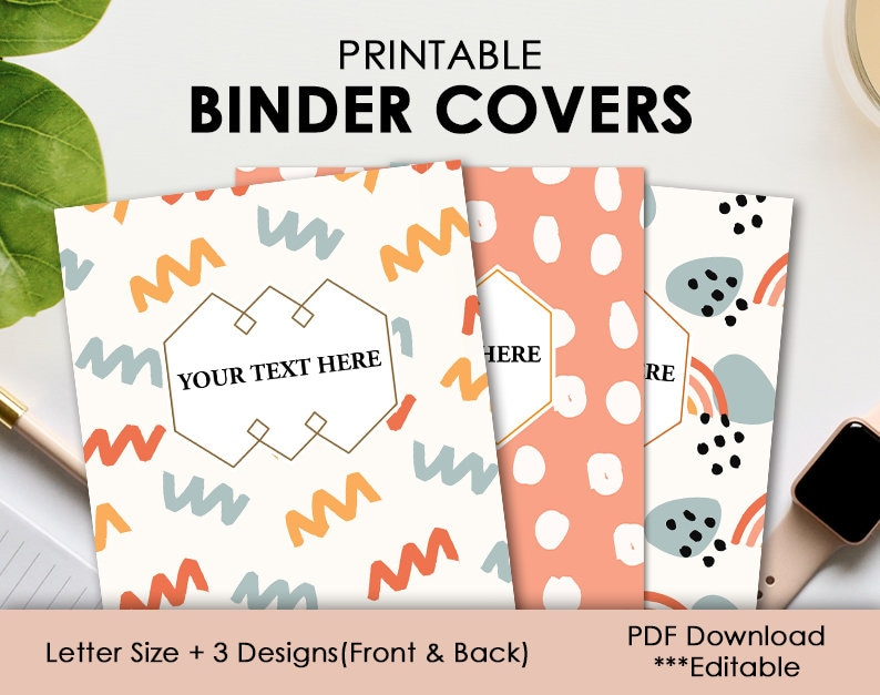 Printable Binder Cover  Binder Cover and Spines Printable  image 0