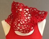 MALF tube scarf-lace red...