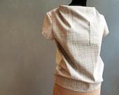 SHILSO - cream - short sleeve blouse