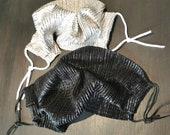 CORONA- Mask - Mouth -black-plissee