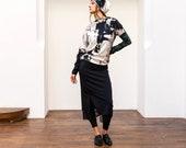 SERGE - skirt - black
