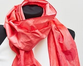 FLUKY-Taft scarf painted coralle