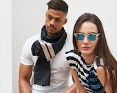 FLUKY-Taft scarf stripes black