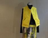 PETIT - Reversible vest- green-yellow/checkered