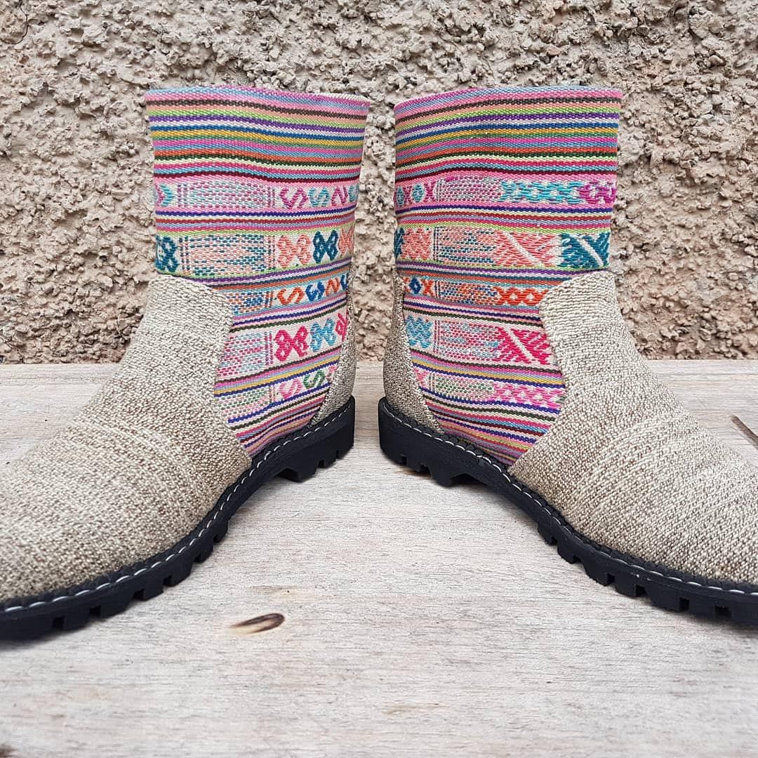 Colorful Tribal  botas    - tamaño 37 - Striped Festival  botas  Antique Fabric Bohemian  botas  Vintage Textiles Peruvian  botas  Mujer Zapatos 98d3ac