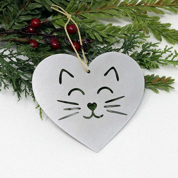 Ornamental METAL CAT /& MOUSE Christmas NEW GREY TABBY
