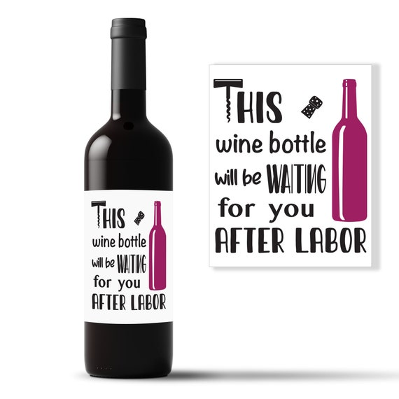 Cheers for the New Baby Girl or Boy Celebration Custom Gift New Parents gift New Mom Wine Bottle Label Congratulations Gift