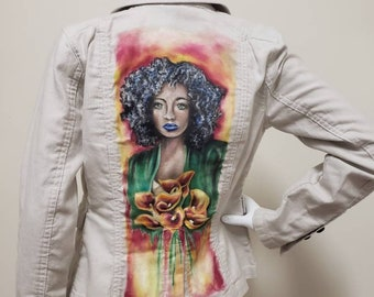 Hand Painted Jacket,  Size 0