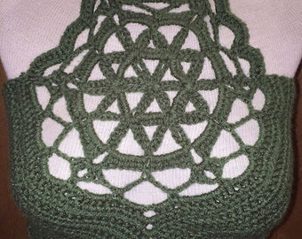 Flower of Life Crochet Halter Top
