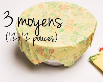 Starter Kit, Three medium Pack, Food Film, foodwrap Envelopes, Eco-Friendly, Zero Waste, Reusable, Organic