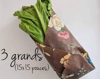 Starter Kit, Three big Pack, Food Film, foodwrap Envelopes, Eco-Friendly, Zero Waste, Reusable, Organic