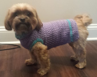 Crocheted Small Dog Sweater