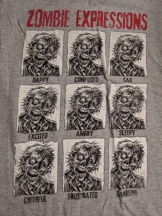 Zombie expressions XL tshirt