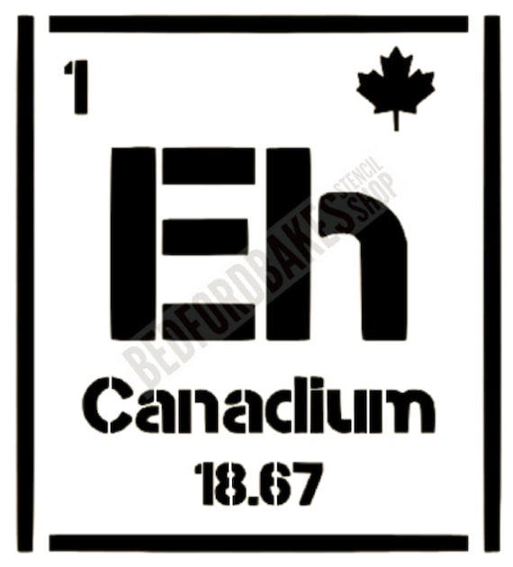 Periodic Table Canada Stencil Cookie Stencil Etsy