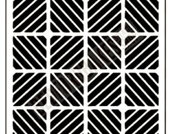 Mind Bending Stencil / Cookie Stencil / Broken Grid Stencil