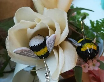 Bumble Bees // Polymer Clay