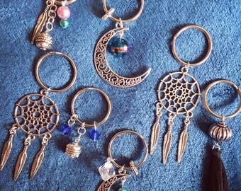 Tibetan silver key rings