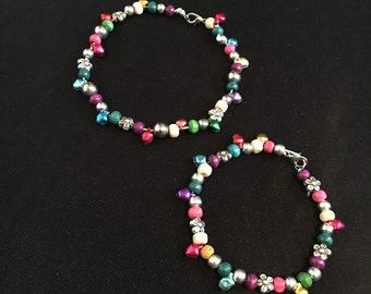 Rainbow bracelet/ anklet