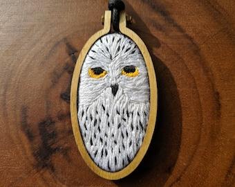 Snowy Owl Pendant Nature Bird Woodland Audubon Necklace UNISEX Raptor Cameo Necklace Night Owl