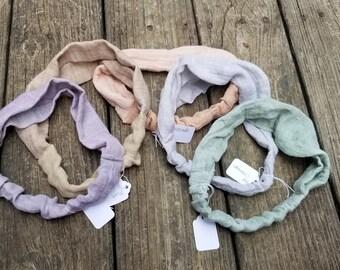 Naturally dyed headbands