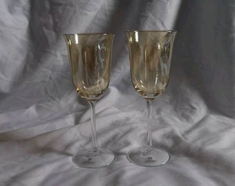 ZODAX Bronze Tall Chanpagne Glasses, Set of 2, EXCELLENT CONDITION
