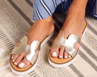 8edb0ab229af Gold Greek sandals