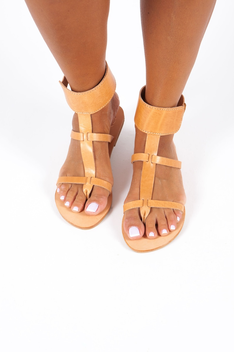 8d104b8a361e Gladiator Greek Leather Sandals for Women Ancient Greek and