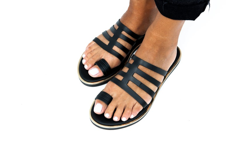 66d5df3ad05729 Greek sandals Black   Greek leather sandals women s