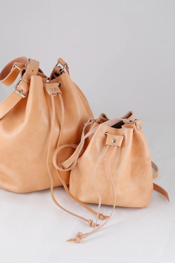 Leather Purse Leather Bucket Bag Handmade Handbag Black Leather Bag Bucket Bag Women Handmade in Greece Crossbody Bag Evening Clutch