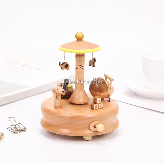 Wood Music Box Personalized Music Box Gift For Baby Boy Etsy