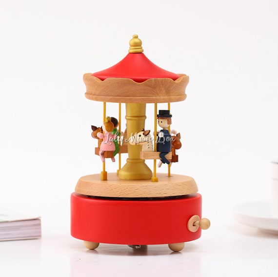 Wood Carousel Music Box Personalized Musical Box For Kids Etsy