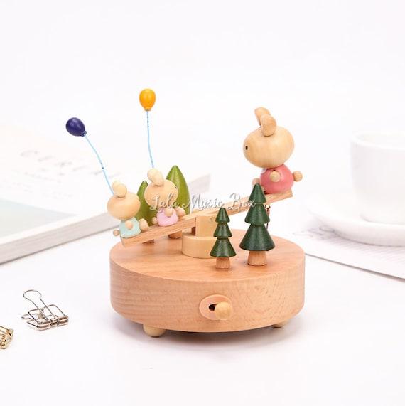 Wood Music Box Baby Shower Gift Music Box Wooden Music Etsy