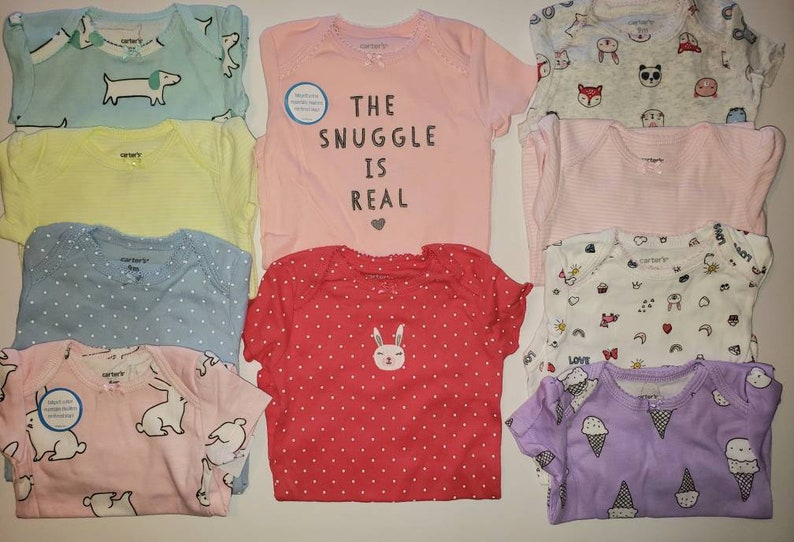 6-9 ms Unique Baby Shower Gift Set Baby Girl Forest Friends Cupcake Onesies