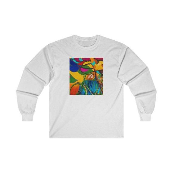 Art abstrait et tee-shirt unisexe à manches longues unisexe tee-shirt coton Ultra 59aa22