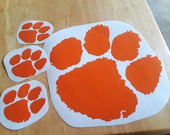Clemson Tigers 4pc Car Window Vinyl Decal Father's Day