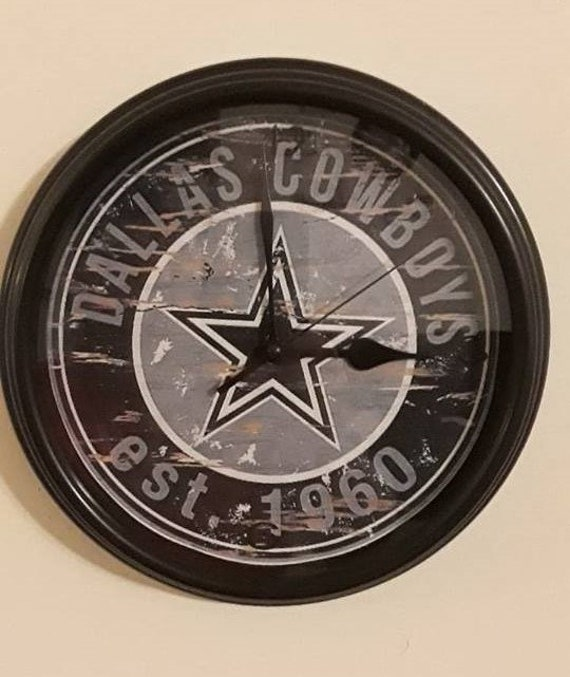 DALLAS COWBOYS NFL FOOTBALL TEAM LOGO WALL CLOCK MAN CAVE BEDROOM GARAGE DECOR