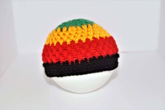 Rasta Crochet Beanie Hat  b8e8af77ef3