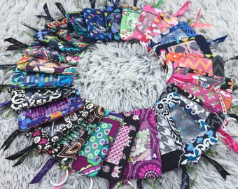 Zip ID case and lanyard set Classic Patterns Handmade Brand New with Tag with Vera Bradley