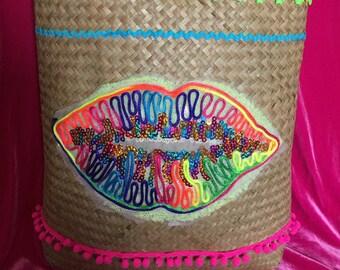 Ladies Rafia beach bag/purse