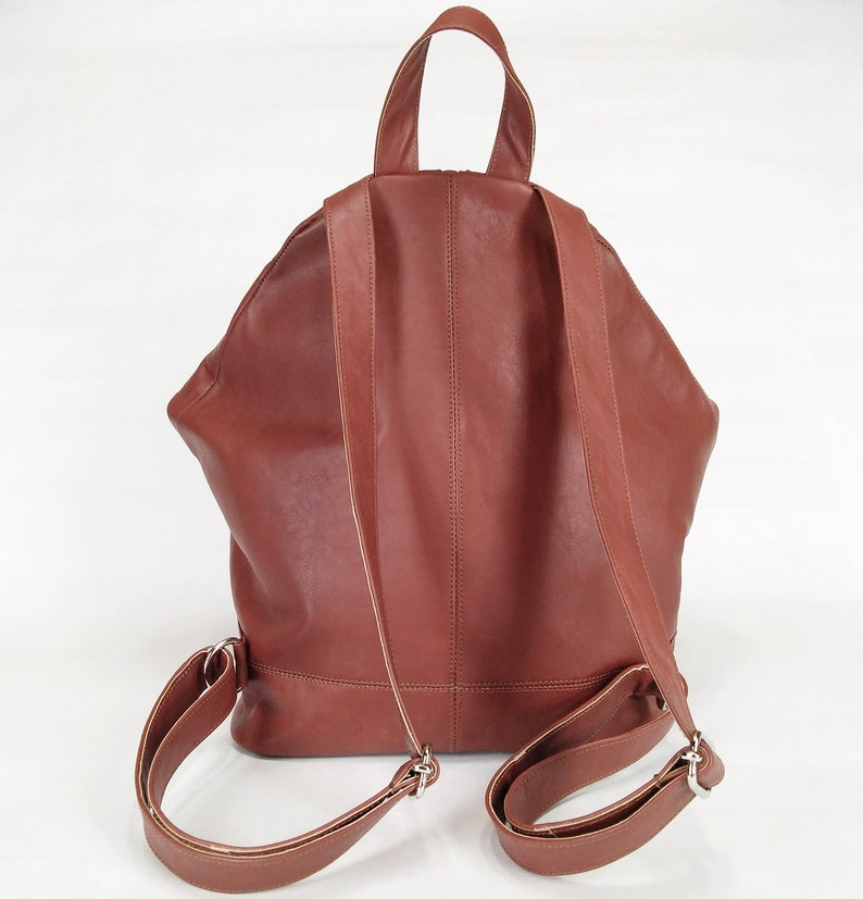 Leather backpack Brown backpack Backpack purse Vintage backpack Vegan backpack Leather backpack purse Women backpack Leather purse