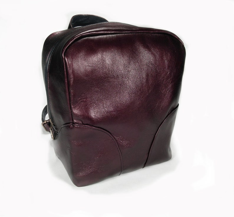 Leather backpack Mini backpack Mini purse Women backpack Backpack purse Leather purse Women purse Red backpack Small backpack Rucksack women