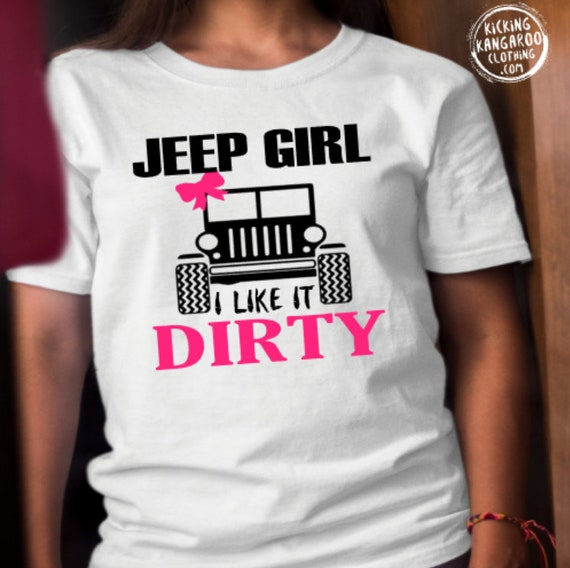 I Like It Dirty Jeep T Shirt Women Casual Letter Printed Short Sleeve Funny Saying Camis T-Shirt
