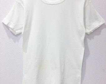 5d40c92a73b7 Rare Vintage 80s BVD Plain White Tees / Size XS / Made in Japan / All  single stitches / unisex / usa / brand