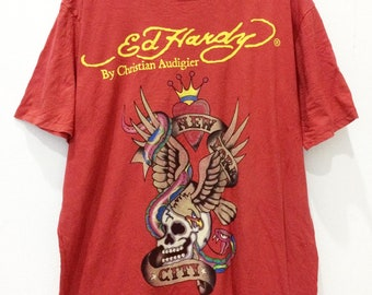 741b20d79 Rare Ed Hardy by Christian Audigier Tees / Size XL / Made in USA / unisex /  art / new york city / snake / eagle / skull graphic tattoo brand