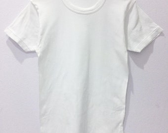 0c566dddcc33 Rare Vintage 80s BVD Plain White Tees / Size XS / Made in Japan / All  single stitches / ringer / brand / usa / japanese / fit / unisex