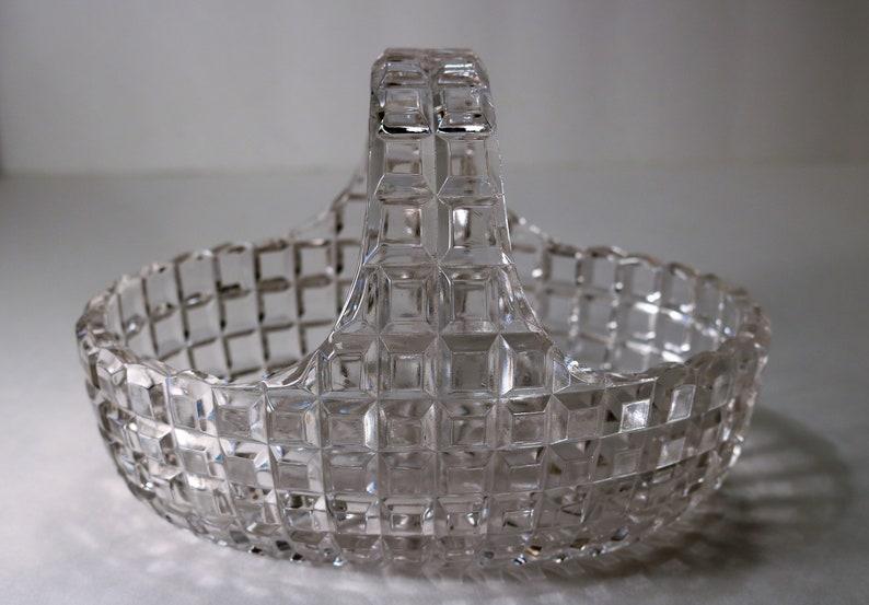1889-1904 Block Pattern Basket Bowl RARE Duncan /& Miller ca