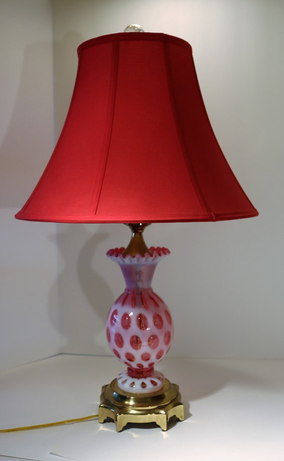 cranberry table lamps