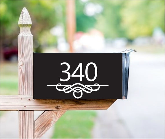 Address or Monogram Custom Full Magnetic Mailbox Cover with your Name